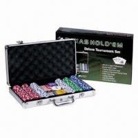 Wholesale Casino game sets, includes 300 pieces poker chips from china suppliers