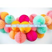 Wholesale Recycled Round Paper Honeycomb Balls For Table Decoration , Tissue Paper Lanterns from china suppliers