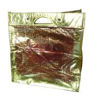 Wholesale Eco friendly golden lamination non woven carry bag with metal handle from china suppliers