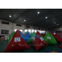 Wholesale Triangle Mutil Color Inflatable Water Buoy , Digital Printing Swimming Area Buoy from china suppliers