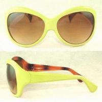 Wholesale Extra-large Frame Women Sunglasses, with AZO-free Paint Safe for Human Skin from china suppliers