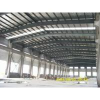 Wholesale steel structure frame workshop warehouse and sandwich panel wall roof and roller shutter door from china suppliers