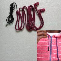 Wholesale hoodie earphone factory washable earphone drawstring headphone for hood jacket from china suppliers