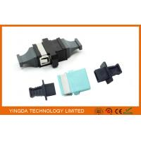 Wholesale MPO / MTP OM3 10G Fiber Optic Adapter , Coupler Black Plastic 24 Fiber SC Adapter from china suppliers