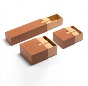 China Handmade Kraft Cardboard Luxury Paper Gift Box For Cosmetic / Perfume on sale