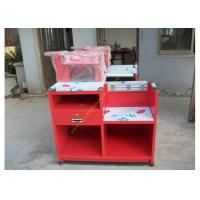 Buy cheap Custom Simple European Checkout Counter / Red Store Cash Desk from wholesalers