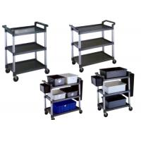 Wholesale Foldable Restaurant Or Hotel Room Service Cart Stainless Steel With Plastic And Tote Box from china suppliers