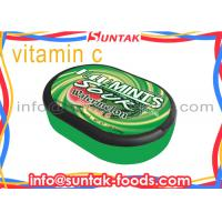 Wholesale Customize Round Shape Vitamin C Candy , Sour Watermelon Candy With Oval Box from china suppliers