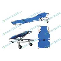 Wholesale 186 * 51 * 25cm Hospitals Sports Foldaway stretcher with two castors and safety belts from china suppliers
