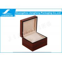 Wholesale Wood Material Red Lacquered Single Watch Gift Boxes With Velvet Pillow from china suppliers