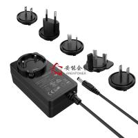 China Switching Interchangeable Power Adapter 24V 1.5A Multi Replacement Plugs Level VI on sale