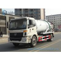 Buy cheap FOTON Auman 4x2 Sanitation Truck / Capacity 10m3 Vacuum Sewage Truck Pump from wholesalers
