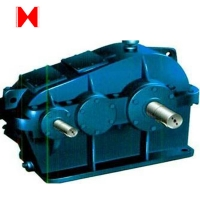 China Worm Drive Draught Fan Gearbox Parallel Shaft Speed Reducer on sale