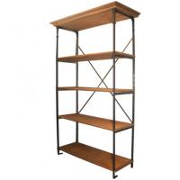 Wholesale Vertical Solid Metal Book Shelf , DIY Chrome 4 Shelf Metal Bookcase from china suppliers