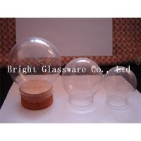 Wholesale Clear Ball shape glass lamp shade with wooden lid from china suppliers