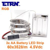Buy cheap MINI Flexible LED Strip Decorated Lighting Bar Battery Supply RGB  SMD Light Chains from wholesalers