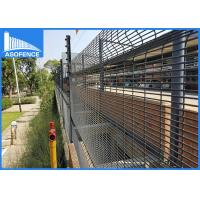 Wholesale Hot Dipped Galvanized Clearvu Security Fence With Spikes , High Anti Corrosion from china suppliers