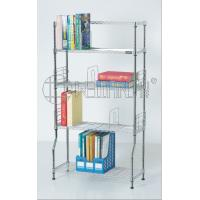 Quality DIY Metal Chrome Bookcase, Book Rack and Book Shelf , NSF & SGS Approval for sale