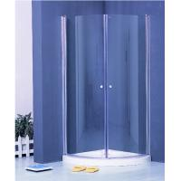 Wholesale Colorful Pivot Shower Enclosure With Shower Tray , Glass Round Corner Shower Units from china suppliers