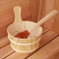 Wholesale 4-6 Persons Deluxe Traditional Sauna Kit , Barrel Spa Room Red Cedar from china suppliers