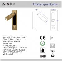 Wholesale Rotating european IP40 headboard wall light flexible 3W bed wall light&wall reading lamp hotel from china suppliers