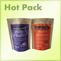 Moisture Proof Ziplock Kraft Stand Up Pouches For Organic Food Packaging