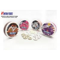 Wholesale White Chocolate Mint Candy / Low Fat Candy In Round Box Custom Logo from china suppliers
