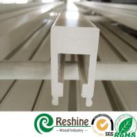 Buy cheap White color painted PVC plantation window louver shutter profiles from wholesalers
