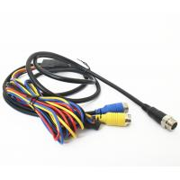 Wholesale Vehicle CCTV Backup Camera Cable 9pin Din To 2x4pin Plug With DC Connector from china suppliers