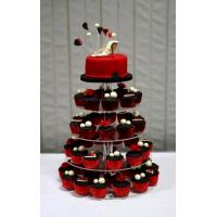 Wholesale 4-Tiers Square Acrylic Cupcake Display from china suppliers