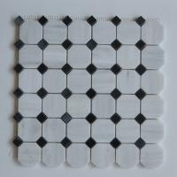 Wholesale Arabescato Carrara White Italian Stone Mosaic Tile With Octagon Black Dots from china suppliers