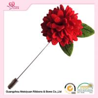 Wholesale Boutique artificial flower pins 3cm , christmas lapel pins fashionable design from china suppliers