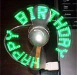 Wholesale Pocket flashing led message usb fan with silk-screen logo for advertisement gifts from china suppliers