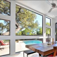 Wholesale Large glass luxury fixed glass aluminum window from china suppliers