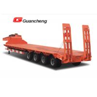 Wholesale Heavy duty 40ft 4 axle lowboy semi trailer goose neck semi trailer shandong from china suppliers