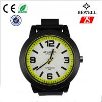 Wholesale Non - toxic PU Band Quartz Sports Silicone Wrist Watch , Easy To Wear from china suppliers