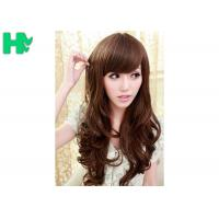 Wholesale Brown Long Wave Natural Synthetic Hair Wigs for Women 70cm Length from china suppliers
