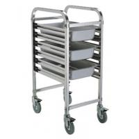 Wholesale Assembled 1/1 Full Size GN Pan Holding Rack Single or Double Column Stainless Steel Catering Equipment from china suppliers