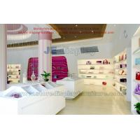 Wholesale Candy gift retail store display fixture by wooden shelves in stream line and white painting sale counters from china suppliers