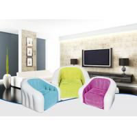 Wholesale Amazing Colored Inflatable Sofa Chair Flocking PVC Material 74X74X64 cm from china suppliers