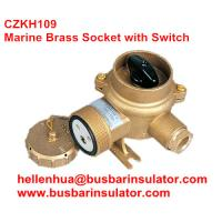 Wholesale 10A/16A marine brass socket with chain switch outlet CZKH202 IP56 from china suppliers