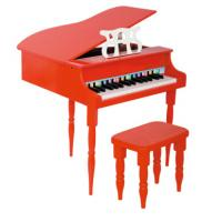 Red Black Childrens Wooden Grand Toy Wooden Piano Mini