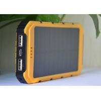 Wholesale Polysilicon Flashlight Solar Power Banks High Capacity Yellow Color 210g from china suppliers