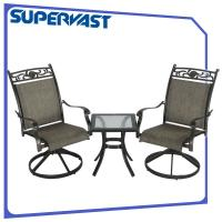 Wholesale 3PC Sling Flower Pattern Outdoor Patio Bistro Set , Outdoor Bar Height Bistro Table Set from china suppliers