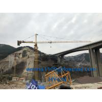 Buy cheap QTZ6513 Top Slewing Tower Crane Free Height 45meters 2.5m Mast Section from wholesalers