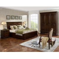 Quality Strong good quality Wooden Beds set with open Door wardrobe custom in Villa and Hotel furniture FF&E solution fixture for sale