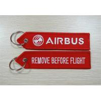 Wholesale Airbus Embroidery Key Tag Remove Before Flight from china suppliers