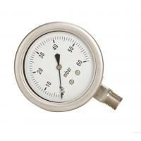 Wholesale Bourdon Type Pressure Gauge 150mm Dia Dial Size DN15 BSP Thread Process Connection from china suppliers