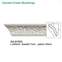 Quality 2017 newly polyurethane foam crown cornice moulding for sale