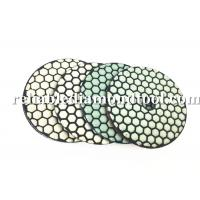 Wholesale 100 mm Dry Diamond Polishing Pads 200 / 800 /1500 Buff With Durable Resin Compound from china suppliers
